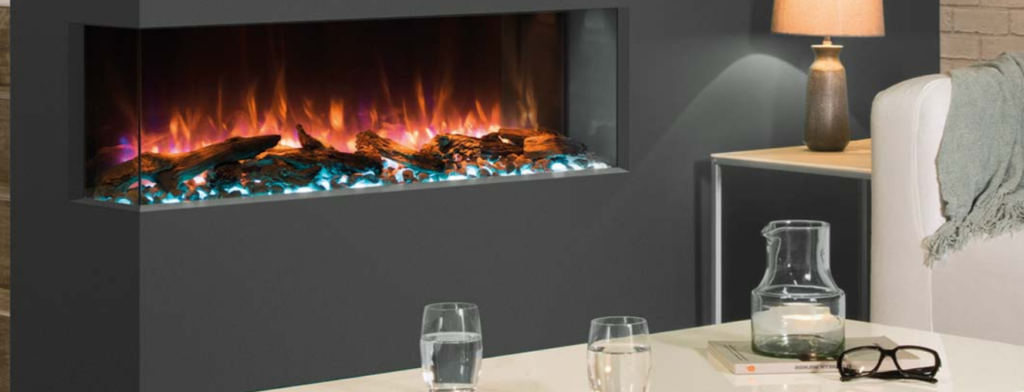 Regency electric fireplace logs and light