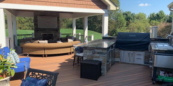 outdoor living room installations
